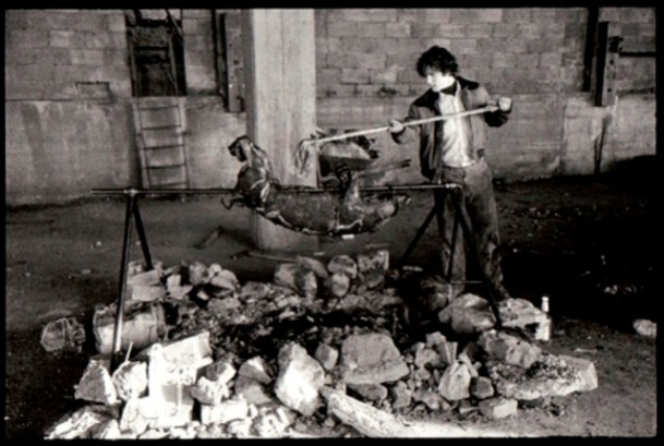 Figure 9, Pig Roast, Gordon Matta-Clark, 1971